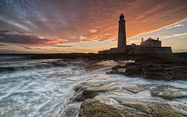 St Mary's Lighthouse Sunset