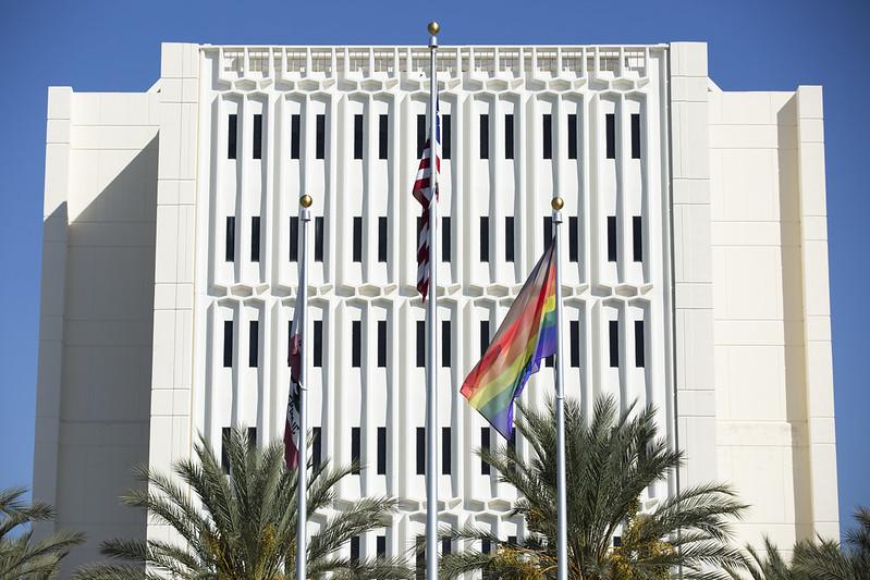 Rainbow Flag Raising Ceremony