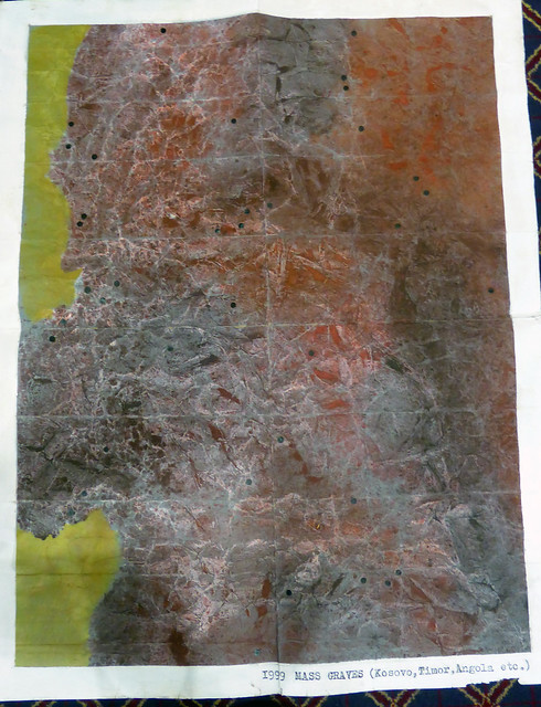 Tom Weld artwork (8): 1999 Mass graves (Kosovo, Timor, Angola etc)