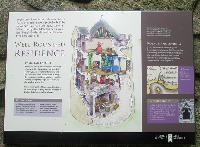 Orchardton Tower Information Board