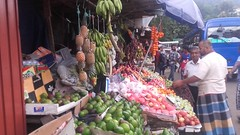Fruit stalls in Kandy, Sri Lanka