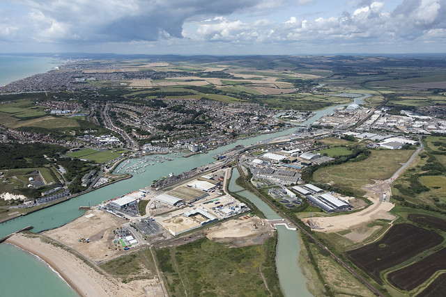 Newhaven aerial image