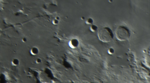 L38 Moon 20th July Tenerife 2018 - Crater Ritter and Sabina