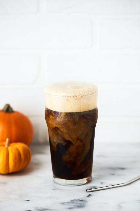 Pumpkin Cream Cold Brew - Starbucks Copycat (options for keto, paleo, dairy-free)