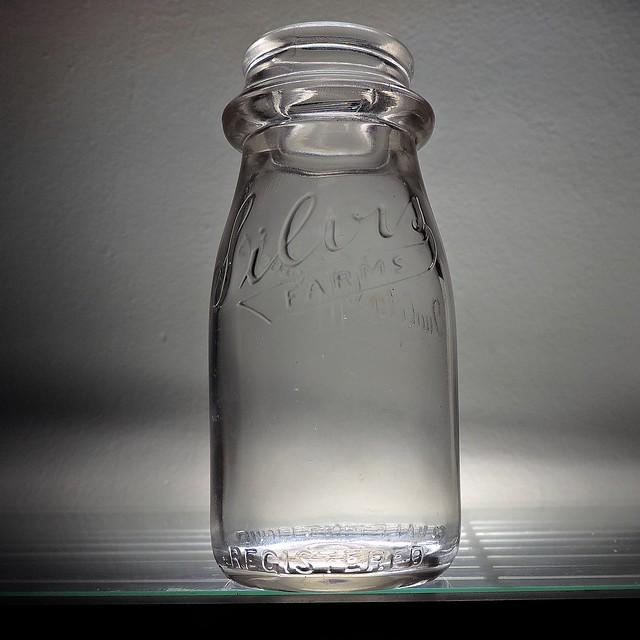 1952 Silvis Farms Dairy Milk Bottle