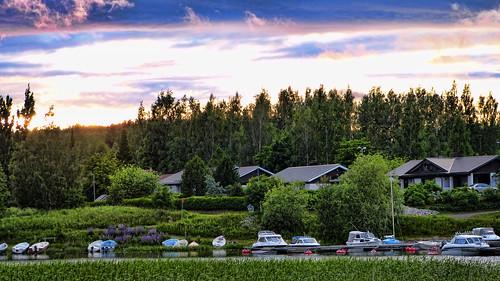 finlandia finland suomi sun sol midnight atardecer sunset light luz paisaje landscape