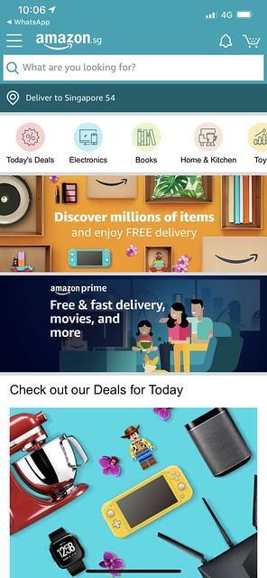 Amazon Singapore - iOS App