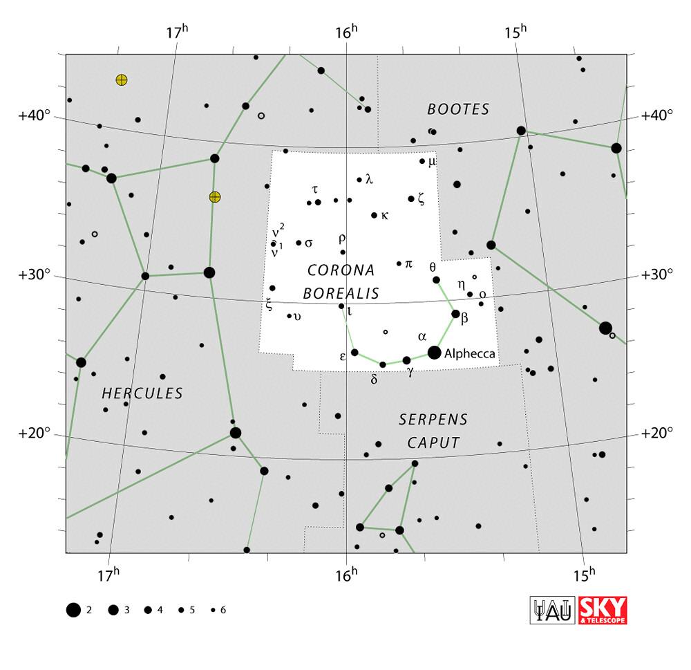 Constellation de la Couronne boréale (Corona borealis)