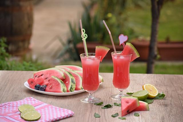 Fresh watermelon juice