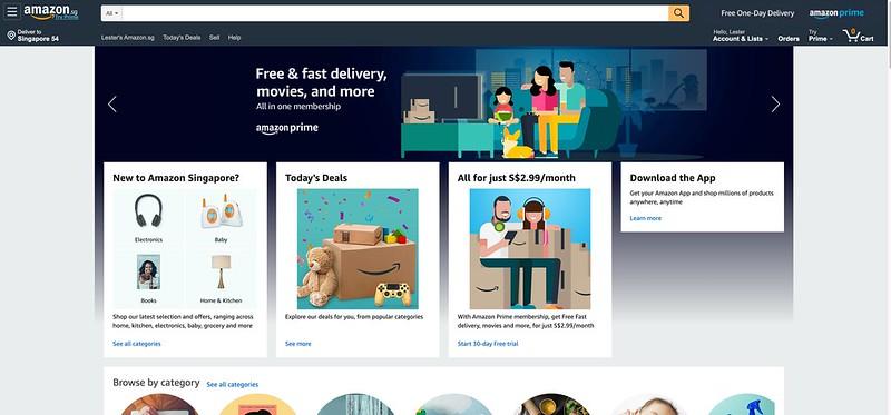 Amazon Singapore - Web