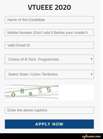 VTUEEE 2020 Registration