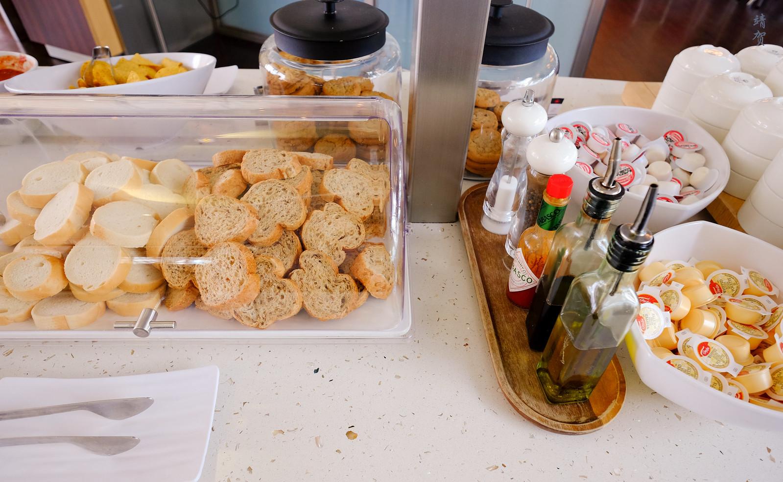 Bread and condiments
