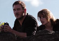 Chris Pratt and Bryce Dallas Howard in Jurassic Park: Fallen Kingdom