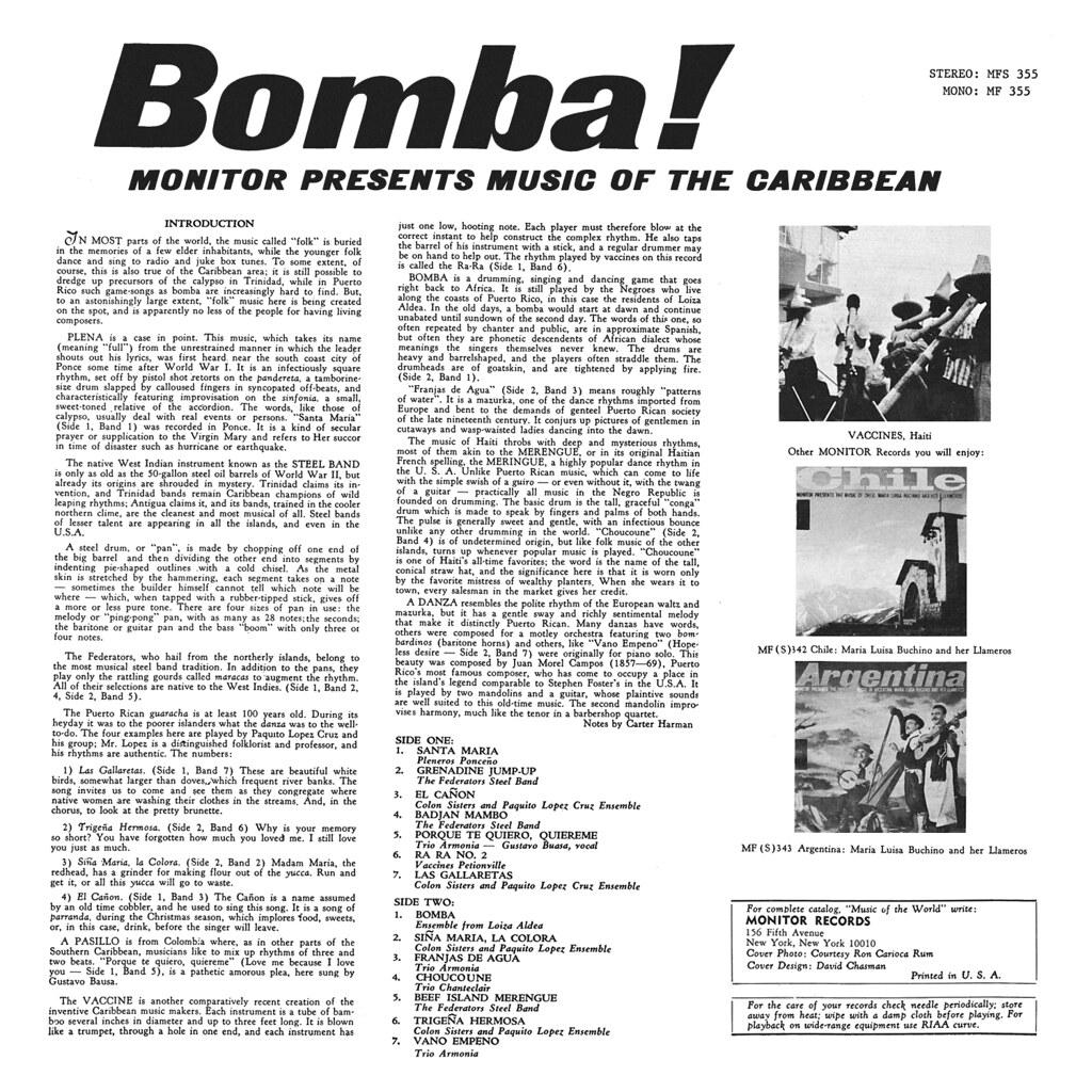 Various Artists - Bomba! Music Of Caribbean