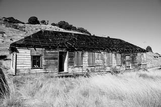 Abandoned building, Fort McDowell, Angel Island, San Francisco Bay