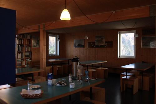 petit-déj à la cabane de Saleinaz