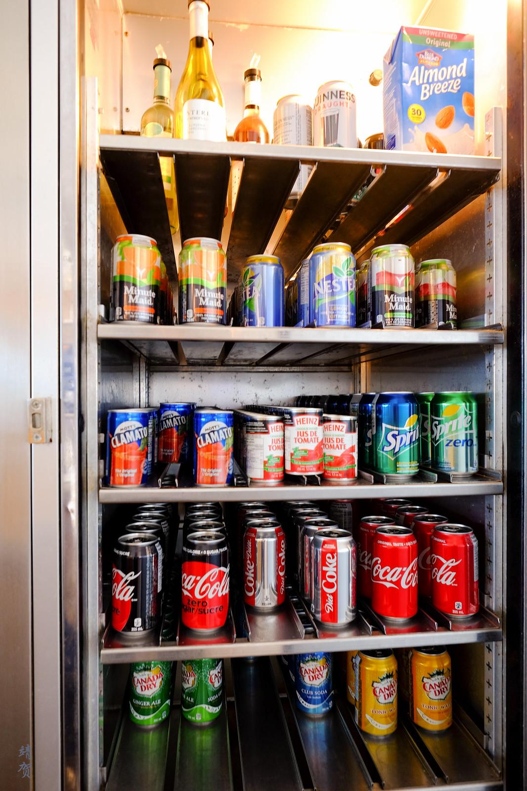 Soft drinks fridge