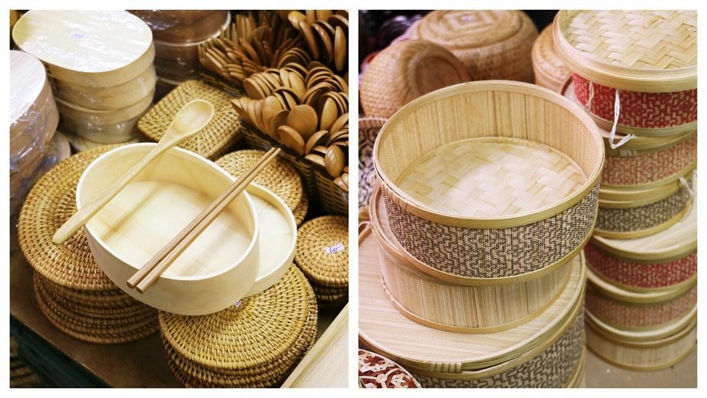 竹編、竹製品近年來受到觀光客喜愛。(攝影/洪采姍)