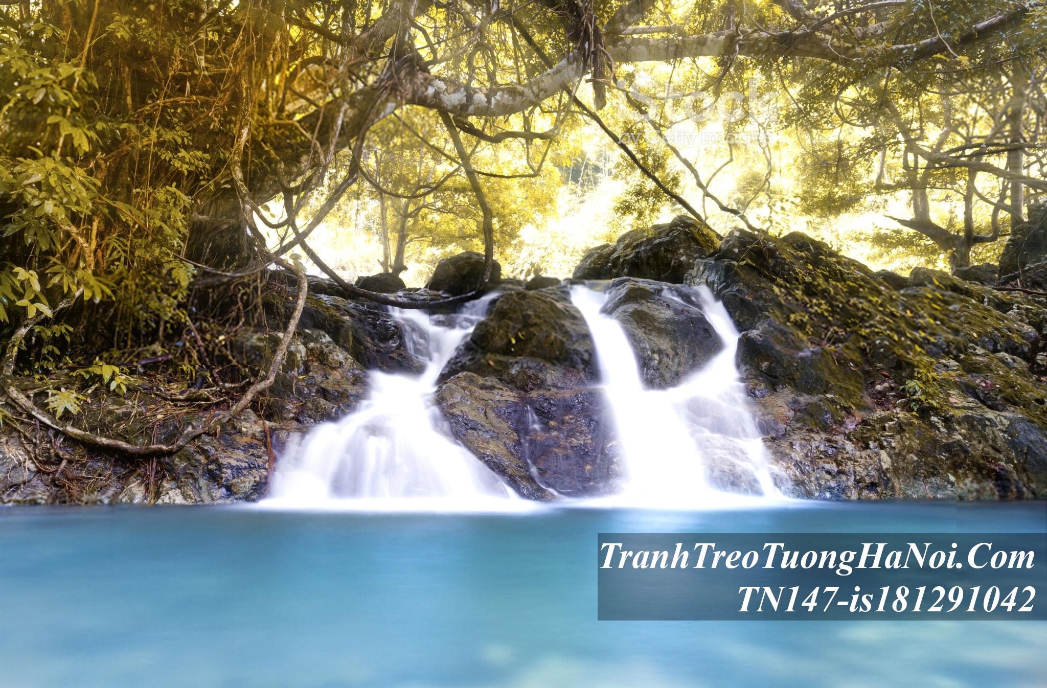 Phong canh dep thac nuoc thien nhien mau xanh amia TN147-is181291042