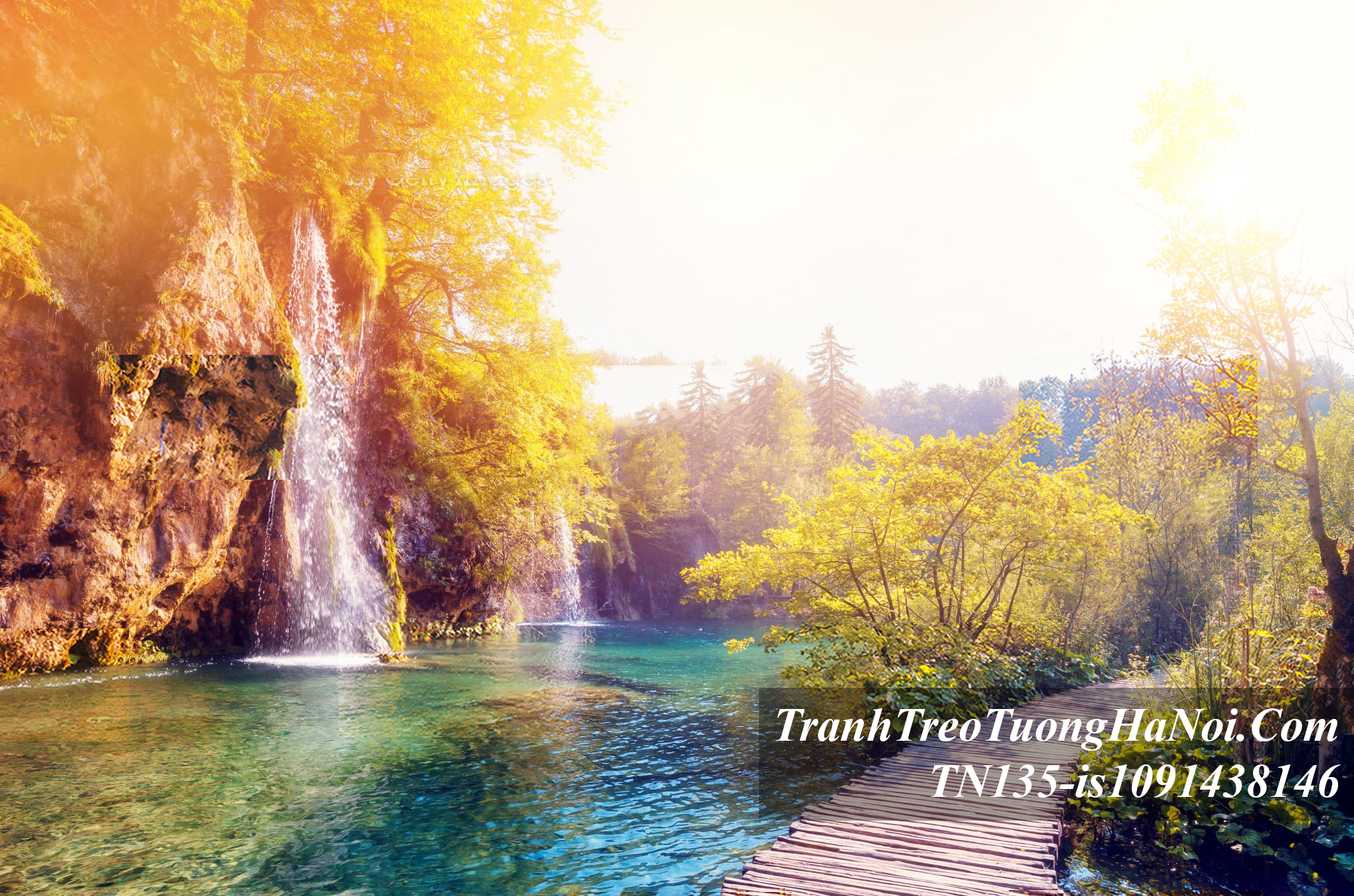 Tranh phong canh thac nuoc mua thu TN135-is1091438146 o Croatia