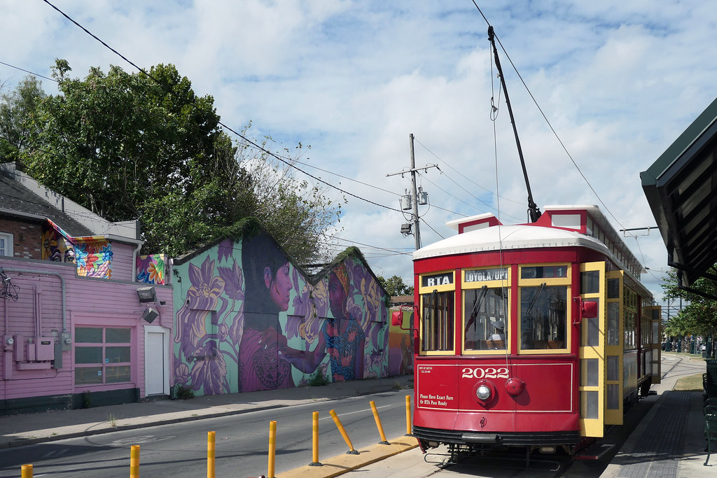 Colourful N Rampart St New Orleans.