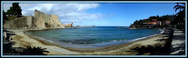 Plage d'Avall à Collioure