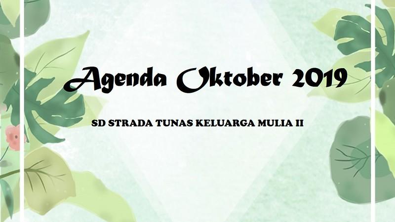 Agenda Oktober 2019