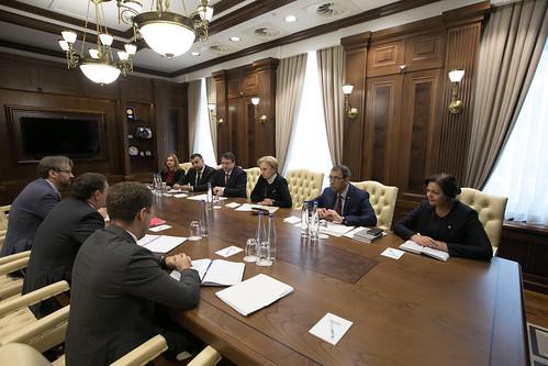 08.10.2019 Întrevederea Președintelui Parlamentului, Zinaida Greceanîi, cu Ruben Atoyan, șeful Misiunii FMI și Volodymyr Tulin, reprezentant permanent FMI în Republica