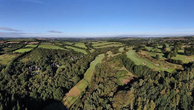Oakridge in St Mellion - Cornwall UK aerial image