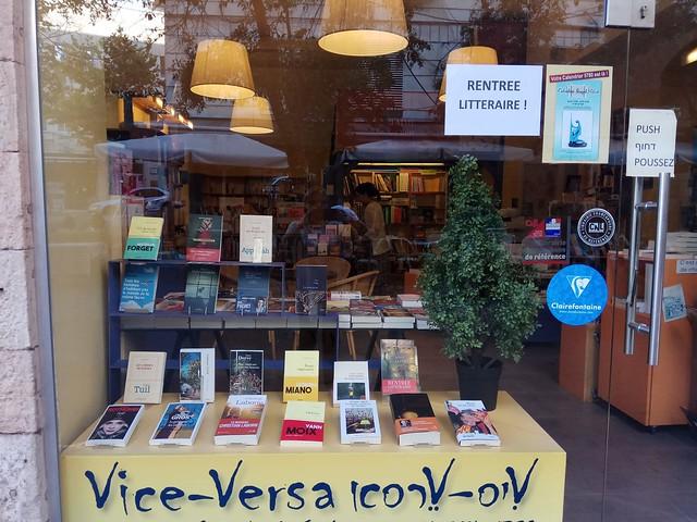 Librairie vitrine rentrée littéraire
