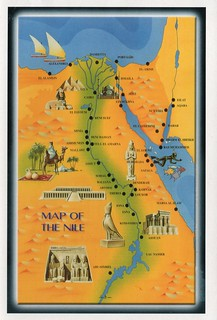 Egypt - Map of the Nile