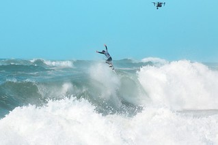 Cam Richards at the WSL Red Bull Airborne competition Hossegor 2019
