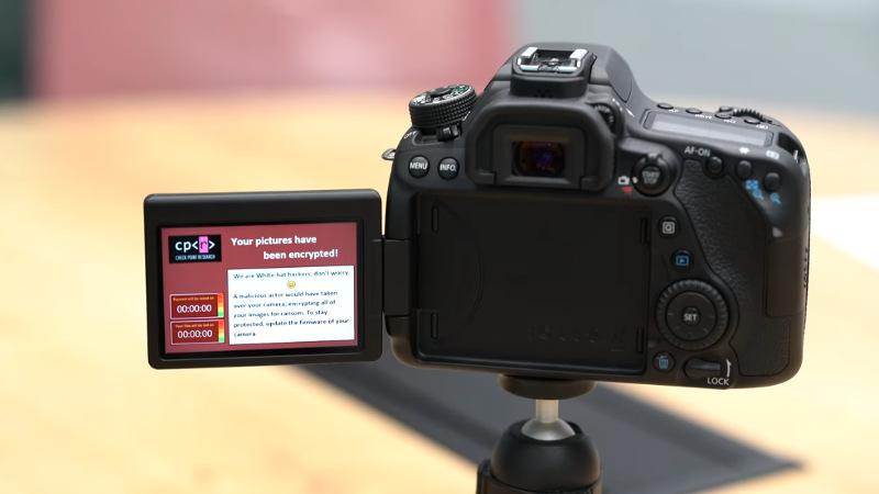 Ransomware em máquinas fotográficas