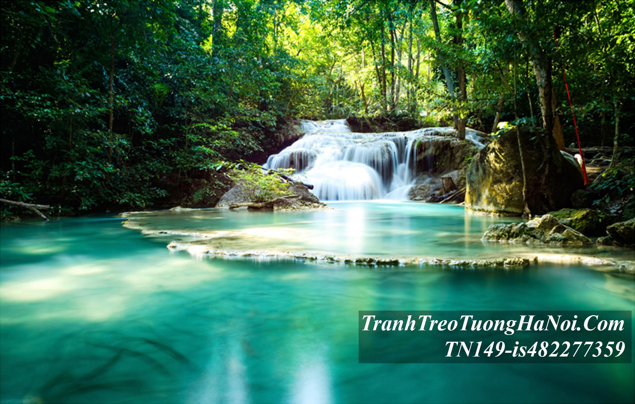 Phong canh thac nuoc ho xanh tuyet dep amia TN149-is482277359-Erawan-waterfall-thai-lan