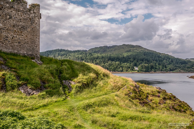 From Castle Tioram, looking north-west to Eilean Shona in Loch Moidart.