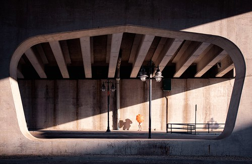 Under the Viaduct With an Umbrella