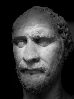 Demosthenes looks haunted …