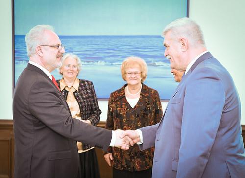 Valsts prezidents Egils Levits tiekas ar Latvijas Pensionāru Federācijas vadību
