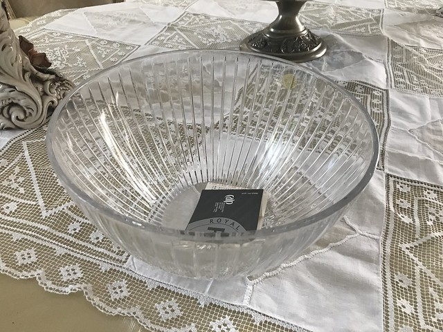 Crystal bowl made in Italy