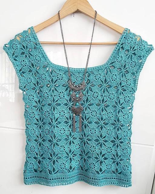 Crochet women top or blouse. Free pattern. (1)