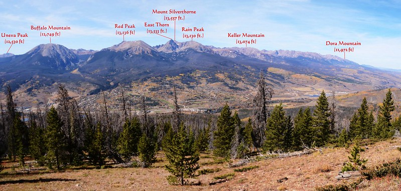 Looking west at Gore Range from Ptarmigan Peak Trail near 10,909 ft  (4)_副本