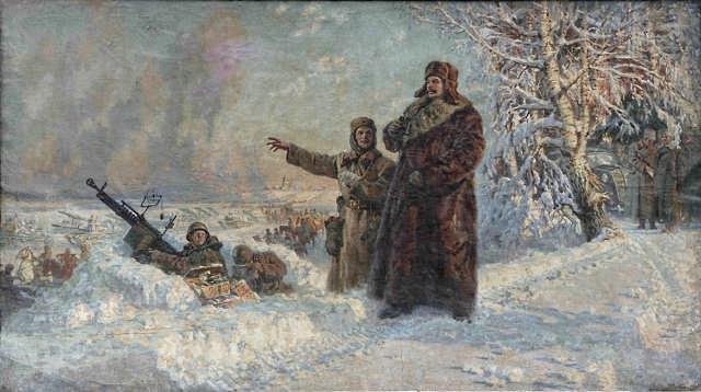 Сталин под Москвой