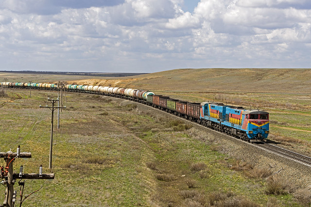 KTZ freight train