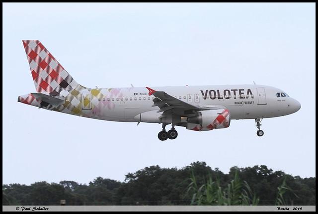AIRBUS A319 111 VOLOTEA EC-NCB 2043 Bastia aout 2019