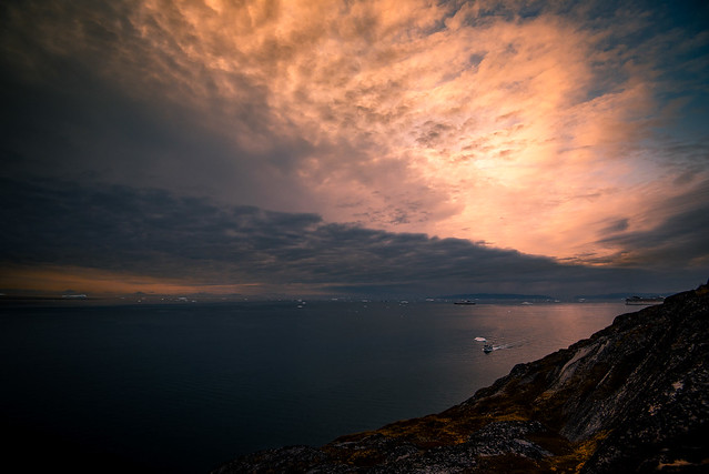 Sunset in Greenland