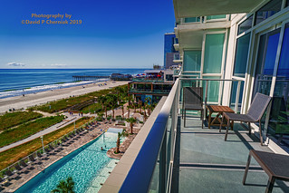 Super Secret Owners Lounge Level Balcony and Pool Brand New Ocean Enclave by Hilton Grand Vacations (3182) Myrtle Beach, SC 9-23-2019.
