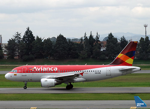 Avianca A319 N612MX old colors (RD)