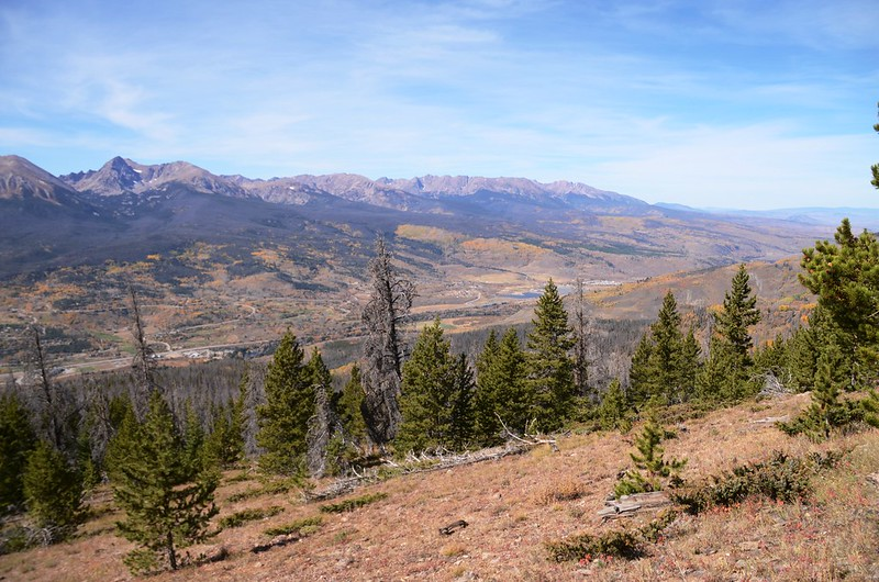 Looking west at Gore Range from Ptarmigan Peak Trail near 10,909 ft  (2)
