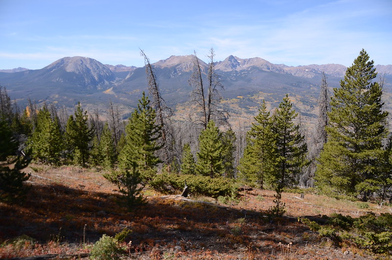 Looking west at Gore Range from Ptarmigan Peak Trail near 10,706 ft  (1)
