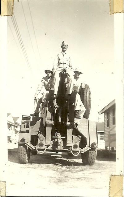 scan0004 Uncle Dom atop his Artillery Piece circa 1941